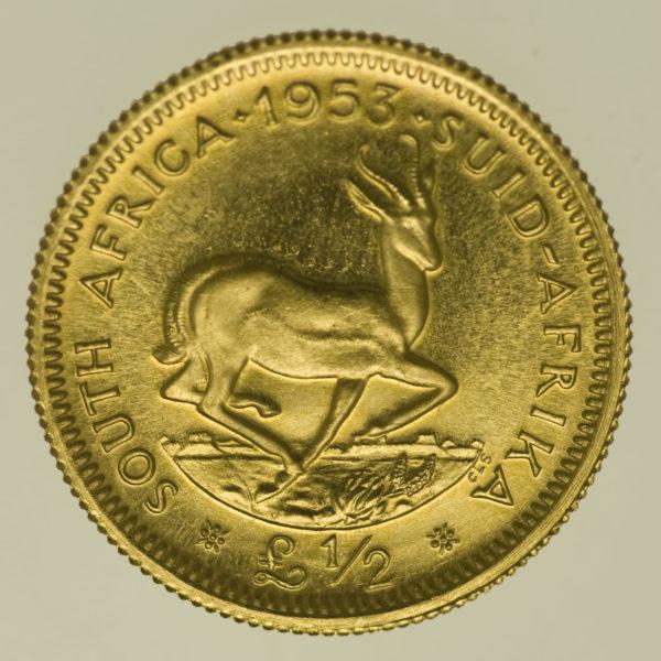 suedafrika - Südafrika Elisabeth II. 1/2 Pound 1953