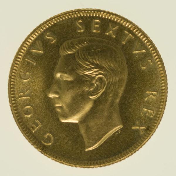 suedafrika - Südafrika Georg VI. Pound 1952
