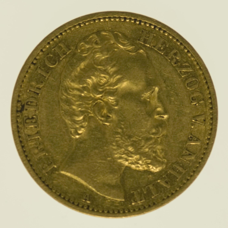 deutsches-kaiserreich-ab-1871 - Anhalt Friedrich I. 20 Mark 1875