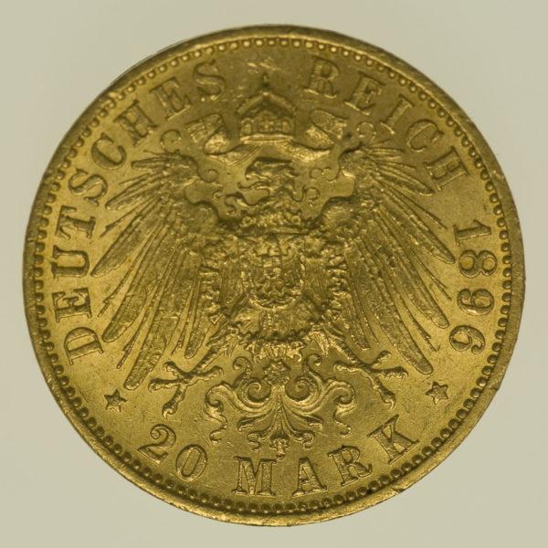 deutsches-kaiserreich-ab-1871 - Anhalt Friedrich I. 20 Mark 1896