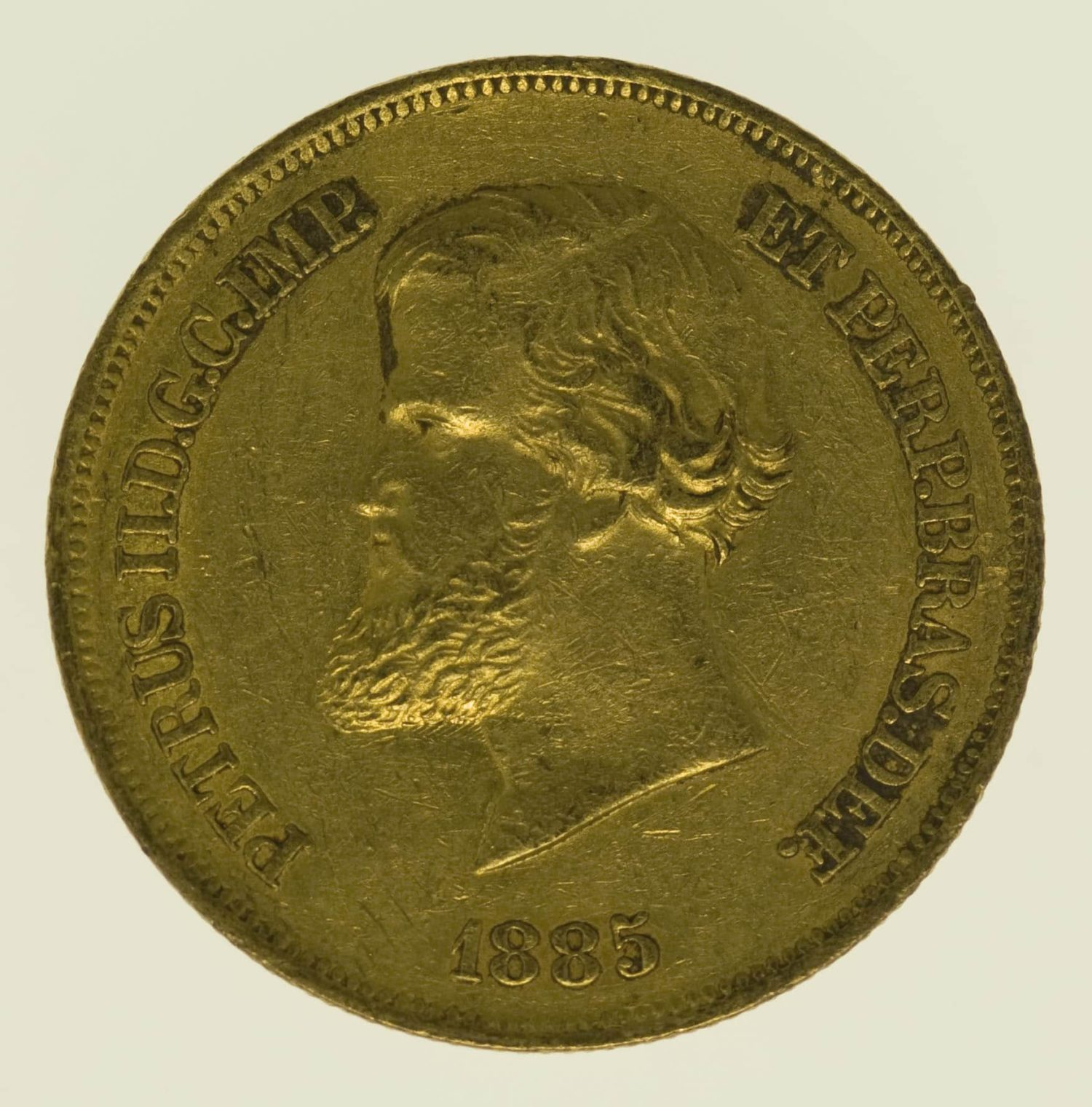 brasilien - Brasilien Pedro II. 10.000 Reis 1885