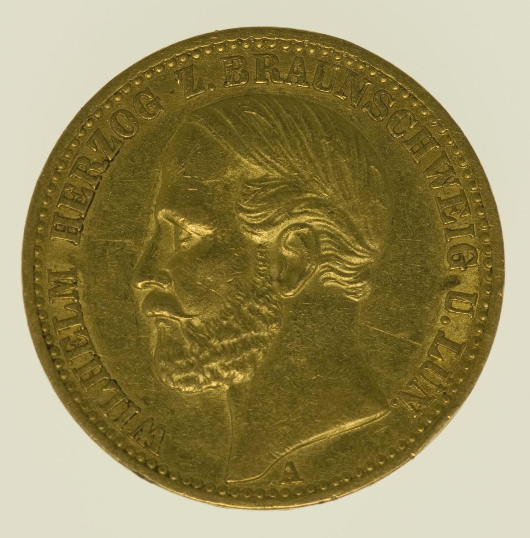 deutsches-kaiserreich-ab-1871 - Braunschweig Lüneburg Wilhelm 20 Mark 1875