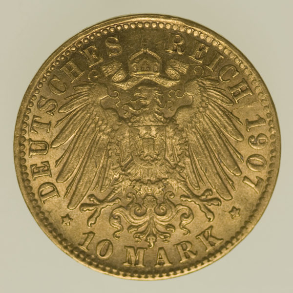 deutsches-kaiserreich-ab-1871 - Bremen Stadtwappen 10 Mark 1907