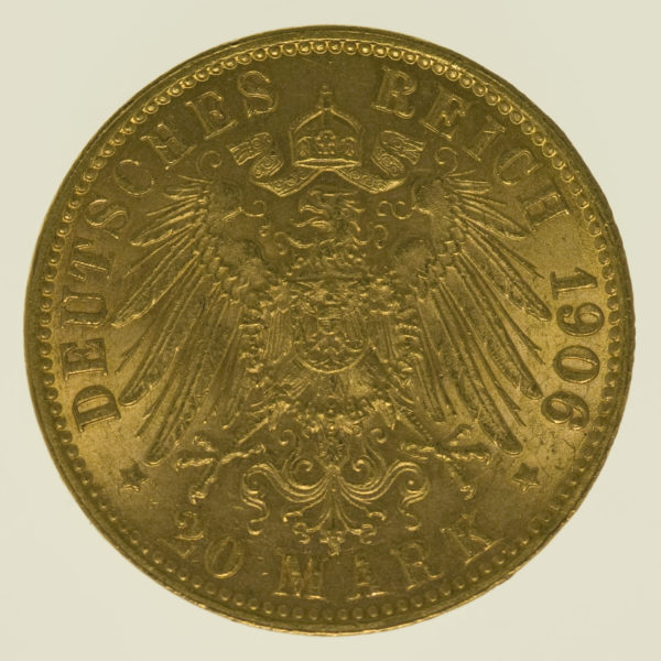deutsches-kaiserreich-ab-1871 - Bremen Stadtwappen 20 Mark 1906