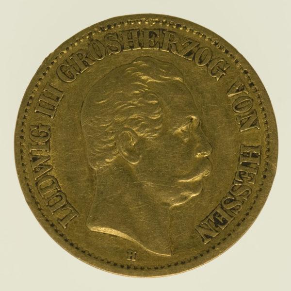 deutsches-kaiserreich-ab-1871 - Hessen Ludwig III.10 Mark 1873