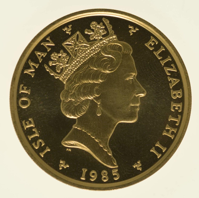 isle-of-man - Isle of Man Elisabeth II. 1 OZ 1985 Angel