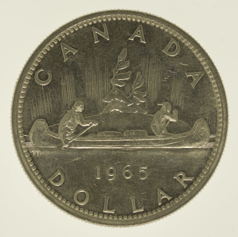 kanada-silbermuenzen-uebrige-welt - Kanada Elisabeth II. Dollar Kanu Lot