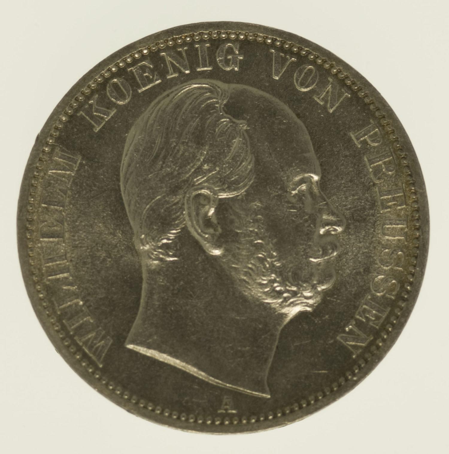 altdeutschland-deutsche-silbermuenzen - Preussen Wilhelm I. Vereinstaler 1868