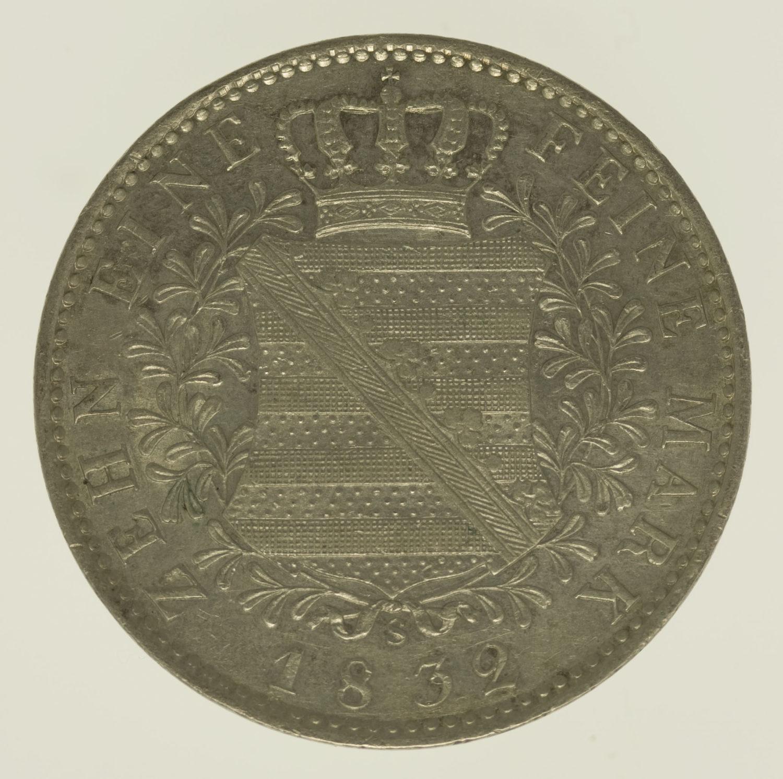 altdeutschland-deutsche-silbermuenzen - Sachsen Anton Taler 1832