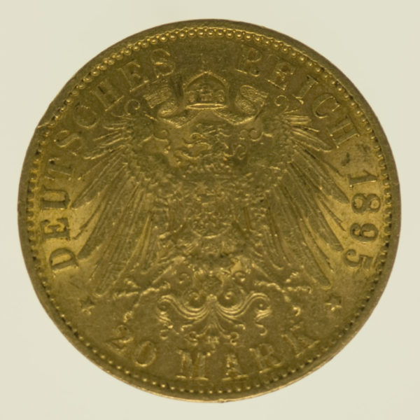 deutsches-kaiserreich-ab-1871 - Sachsen Coburg Gotha Alfred 20 Mark 1895