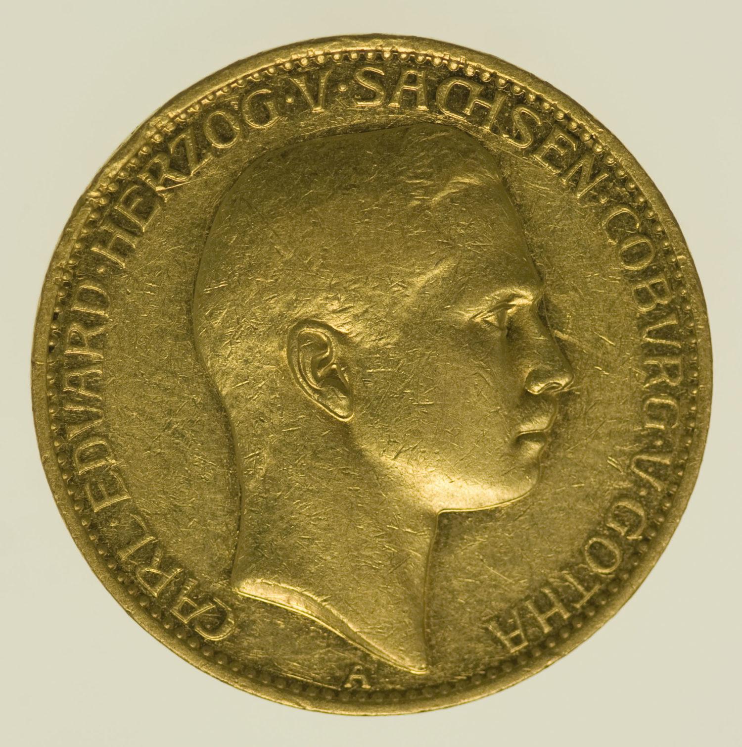 deutsches-kaiserreich-ab-1871 - Sachsen Coburg Gotha Carl Eduard 20 Mark 1905