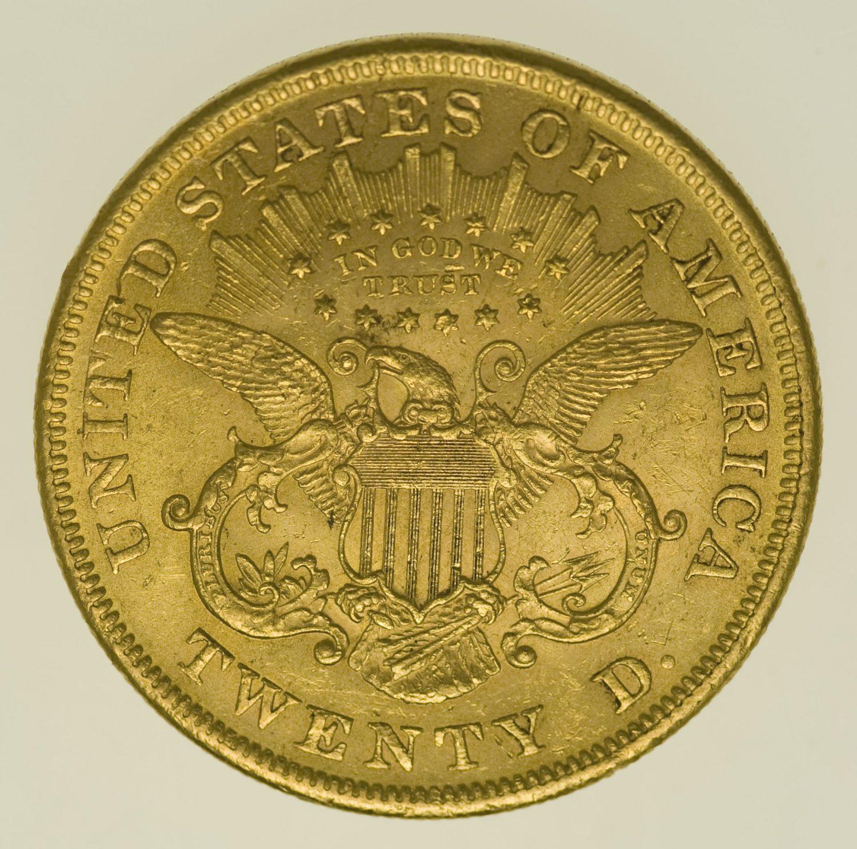 usa - USA 20 Dollars 1873 Liberty / Kopf
