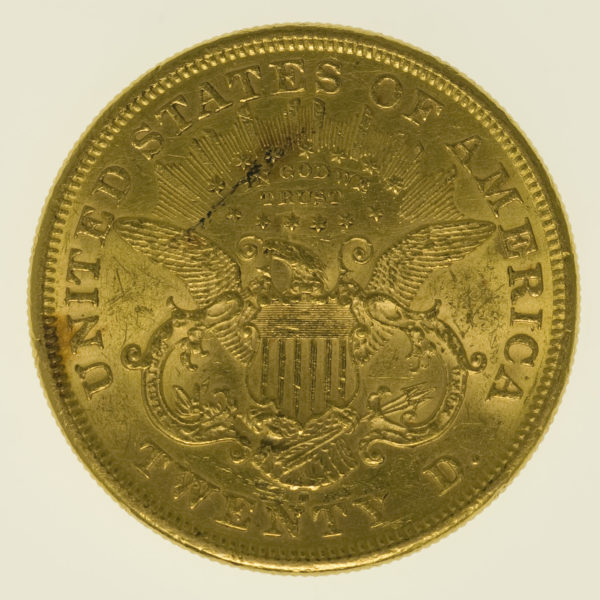 usa - USA 20 Dollars 1875 S Liberty / Kopf