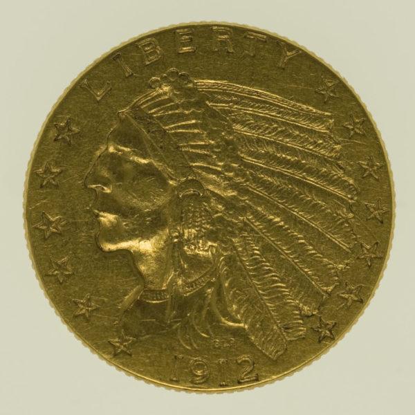 usa - USA 2,5 Dollars 1912 Indianer