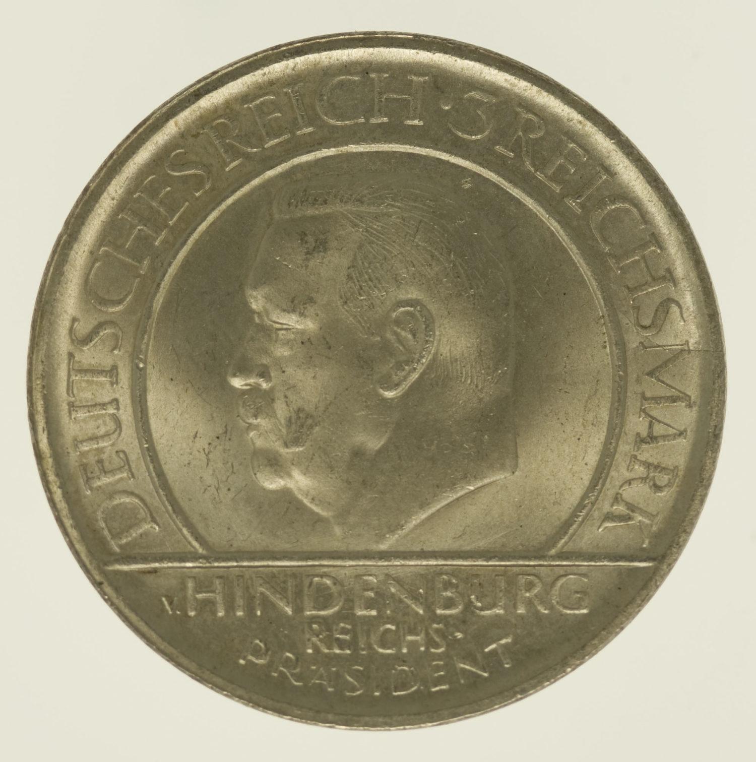 weimarer-republik-deutsche-silbermuenzen - Weimarer Republik 3 Reichsmark 1929 E Schwurhand