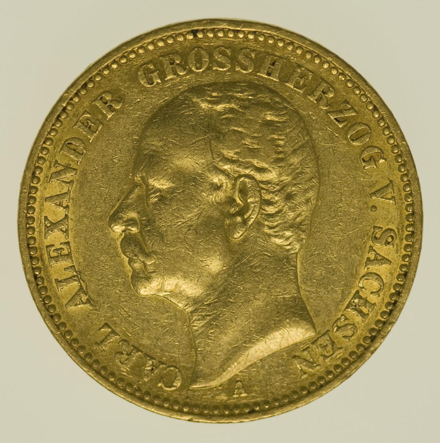 deutsches-kaiserreich-ab-1871 - Sachsen Weimar Eisenach Carl Alexander 20 Mark 1896