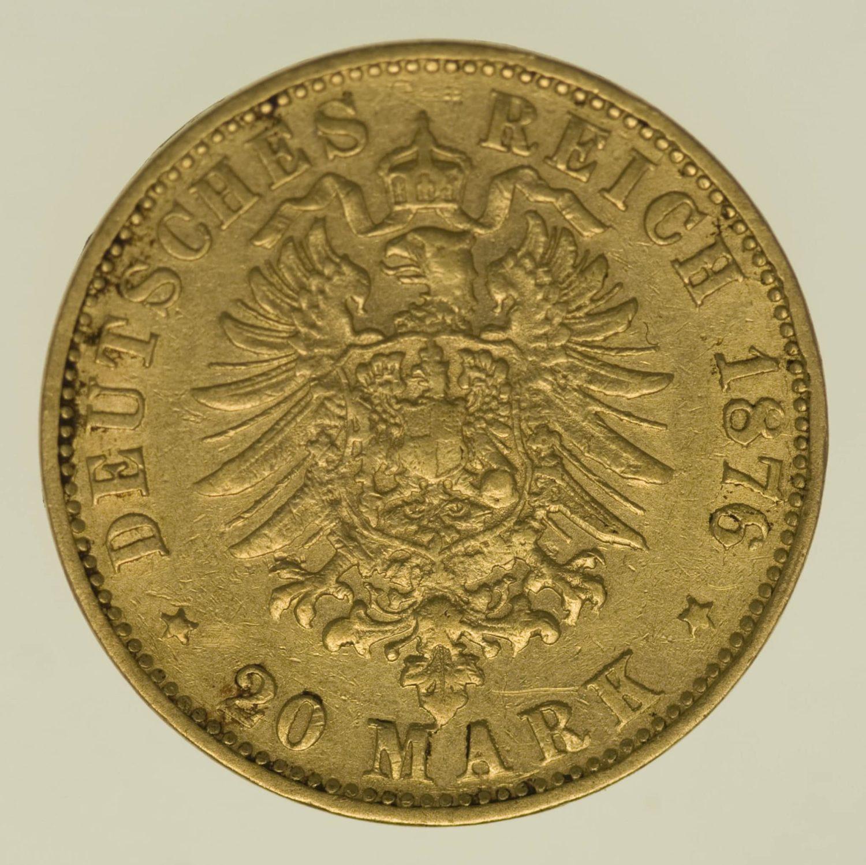 deutsches-kaiserreich-ab-1871 - Bayern Ludwig II. 20 Mark 1876