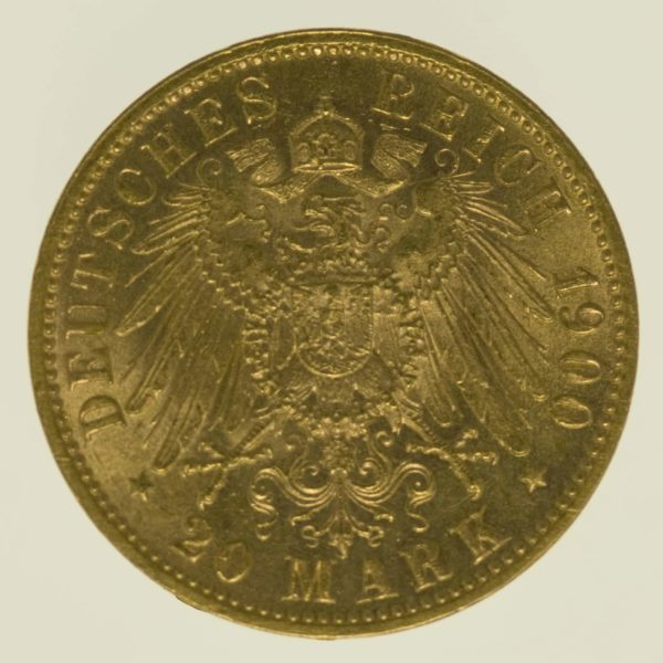 deutsches-kaiserreich-ab-1871 - Bayern Otto 20 Mark 1900