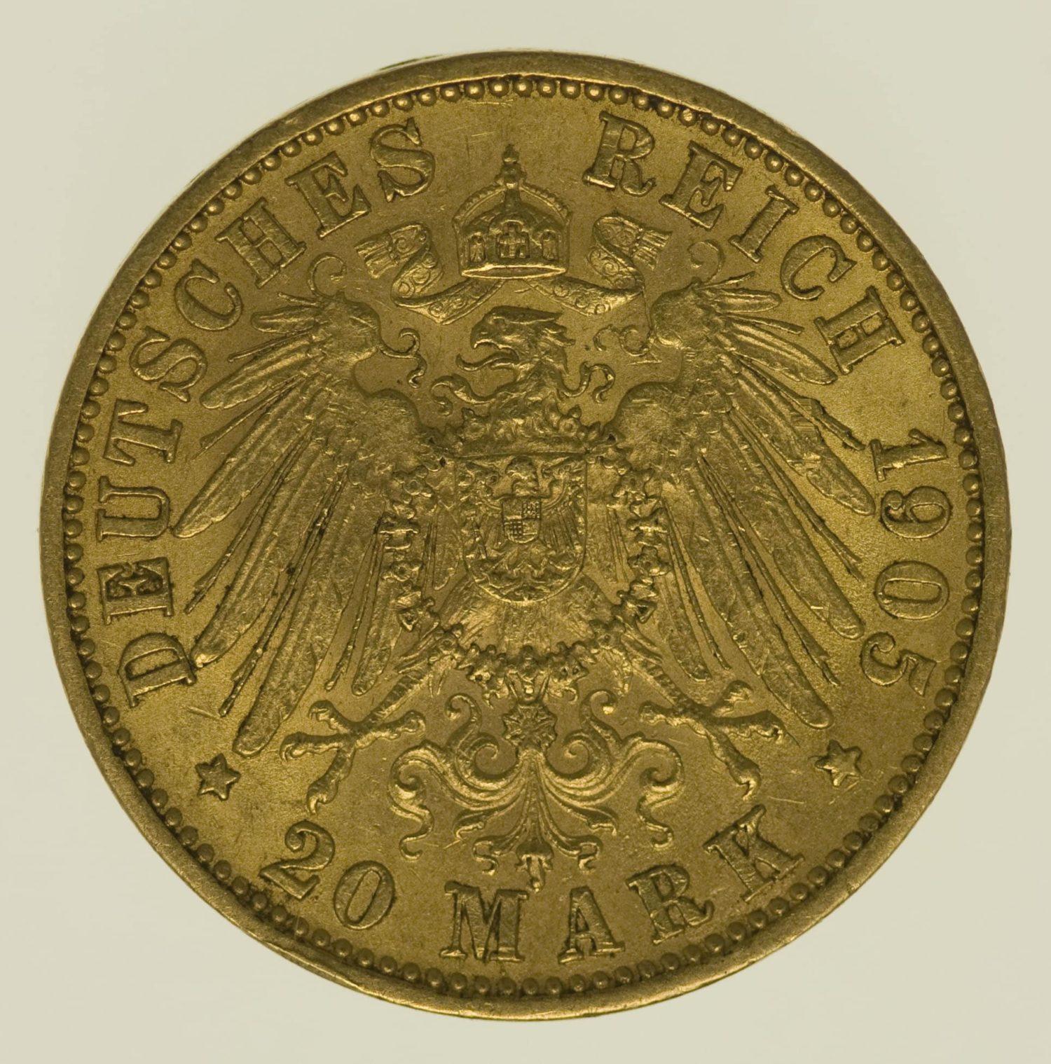deutsches-kaiserreich-ab-1871 - Bayern Otto 20 Mark 1905