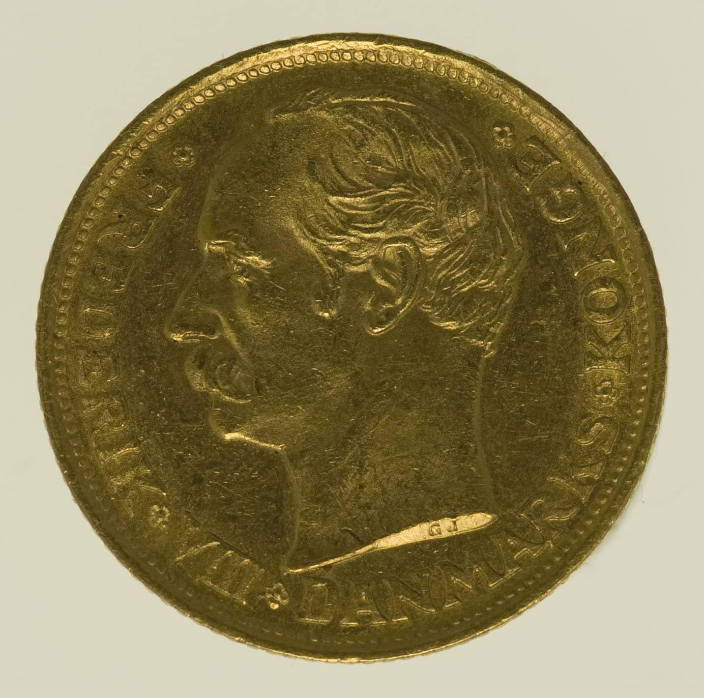 daenemark - Dänemark Frederik VIII. 10 Kronen 1908