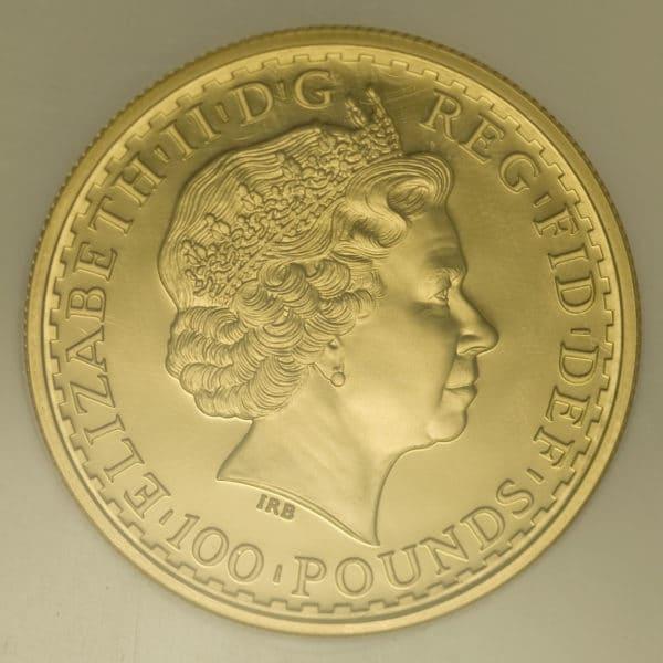 grossbritannien - Großbritannien Elisabeth II. 100 Pounds 1999 Britannia
