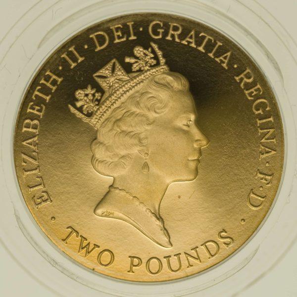 grossbritannien - Großbritannien Elisabeth II. 2 Pounds 1996
