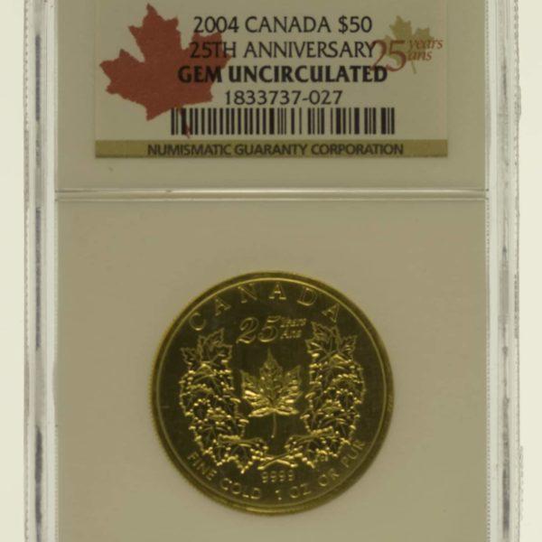 kanada - Kanada Elisabeth II. 50 Dollars 2004 Maple Leaf
