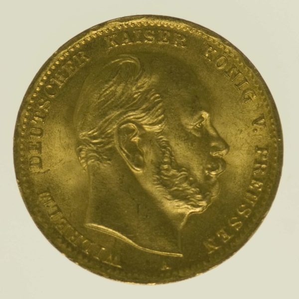 deutsches-kaiserreich-ab-1871 - Preussen Wilhelm I. 10 Mark 1872 A