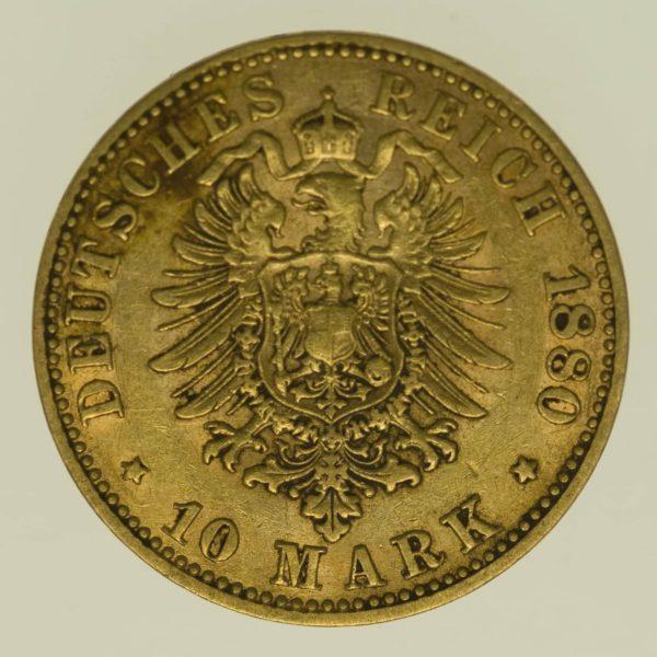 deutsches-kaiserreich-ab-1871 - Preussen Wilhelm I. 10 Mark 1880