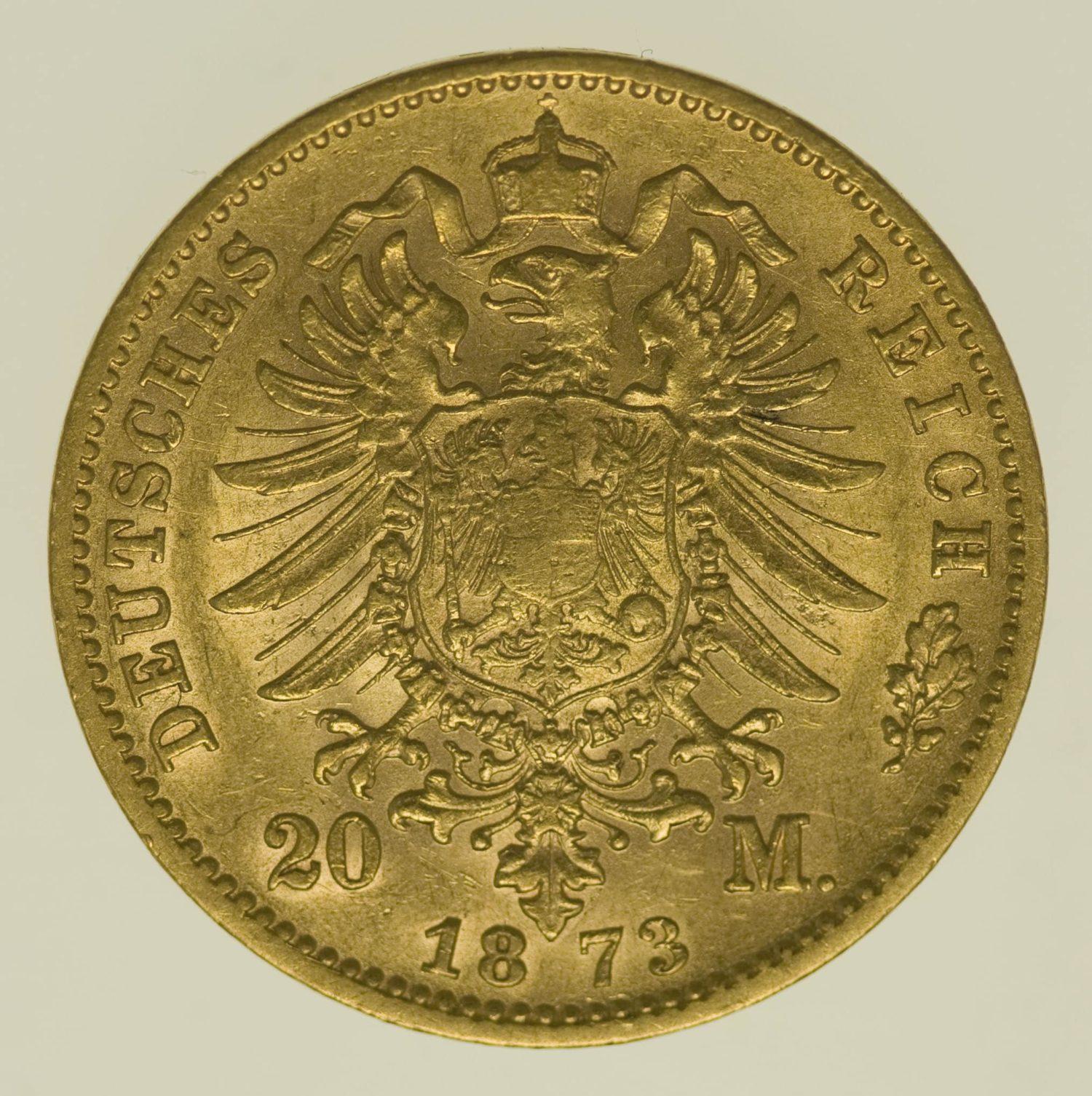 deutsches-kaiserreich-ab-1871 - Württemberg Karl 20 Mark 1873