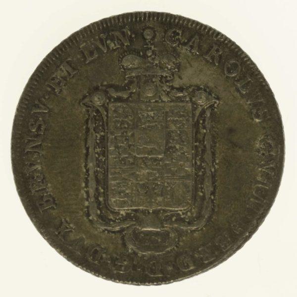altdeutschland-deutsche-silbermuenzen - Braunschweig Wolfenbüttel Karl Wilhelm Ferdinand Konventionstaler 1795