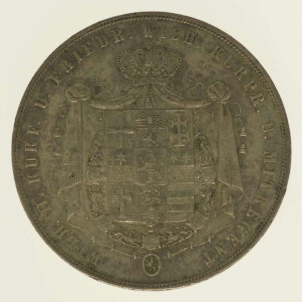 altdeutschland-deutsche-silbermuenzen - Hessen Kassel Wilhelm II. und Friedrich Wilhelm Doppelter Vereinstaler 1840