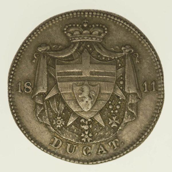 altdeutschland-deutsche-silbermuenzen - Isenburg Carl Friedrich Silberabschlag Dukat 1811