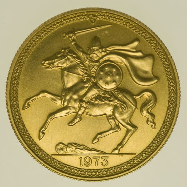 isle-of-man - Isle of Man Elisabeth II. 2 Pounds 1973