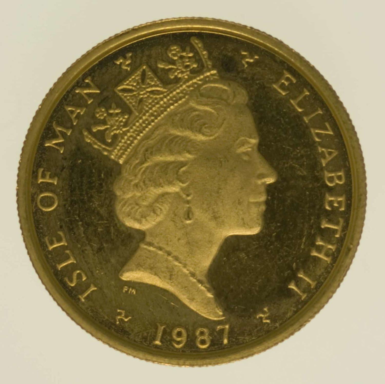 isle-of-man - Isle of Man Elisabeth II. 1/4 OZ 1987 Angel