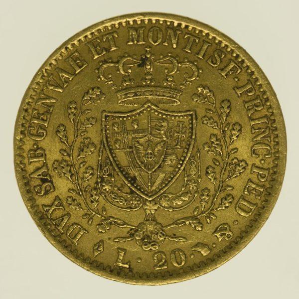 italien - Italien Sardinien Karl Felix 20 Lire 1827
