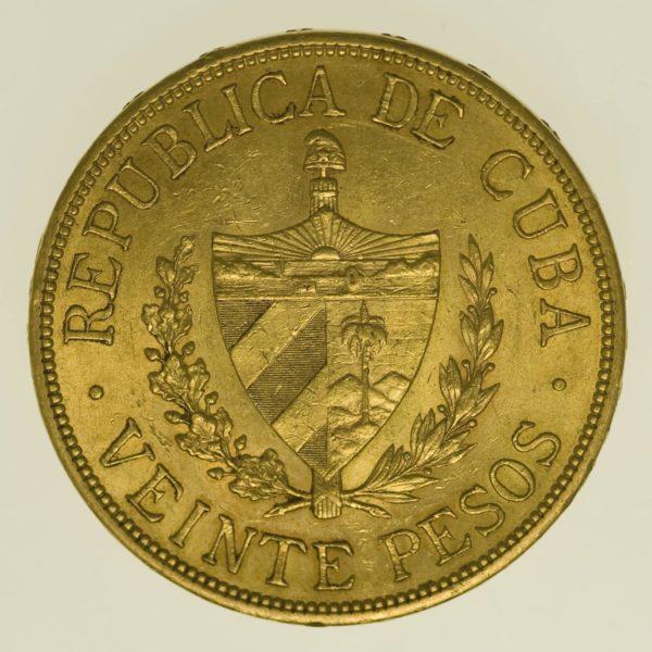 kuba - Kuba 20 Pesos 1915