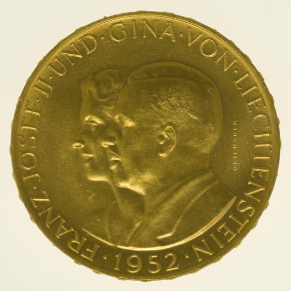 liechtenstein - Liechtenstein Franz Joseph II. 100 Franken 1952