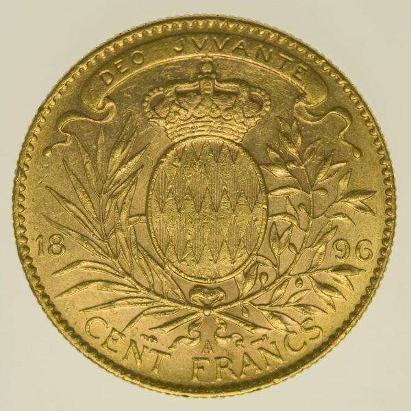 monaco - Monaco Albert I. 100 Francs1896