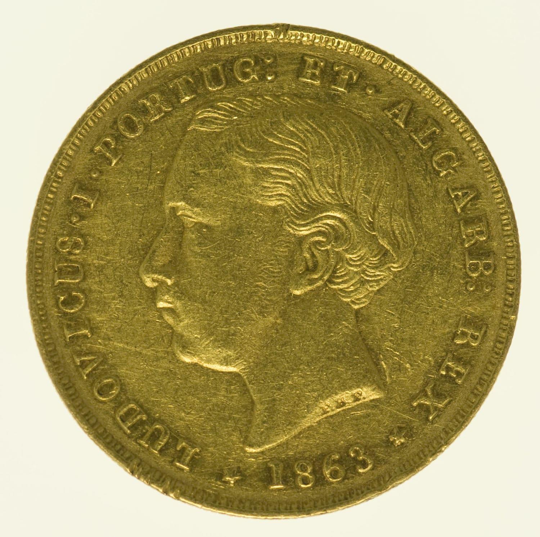 portugal - Portugal Ludwig I. 5000 Reis 1863