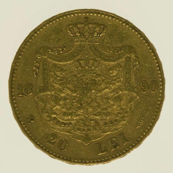 rumaenien - Rumänien Karl I. 20 Lei 1890