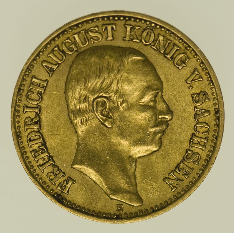 deutsches-kaiserreich-ab-1871 - Sachsen Friedrich August 10 Mark 1909