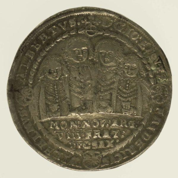 altdeutschland-deutsche-silbermuenzen - Sachsen Weimar Johann Ernst und seine 7 Brüder Taler 1608