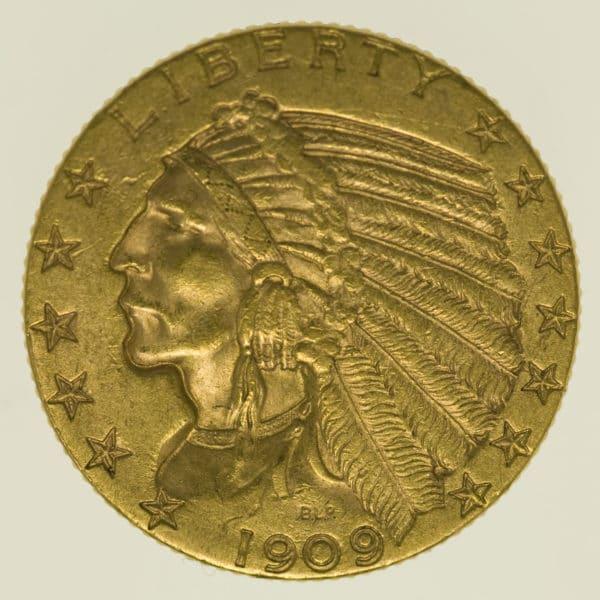 usa - USA 5 Dollars 1909 Indianer