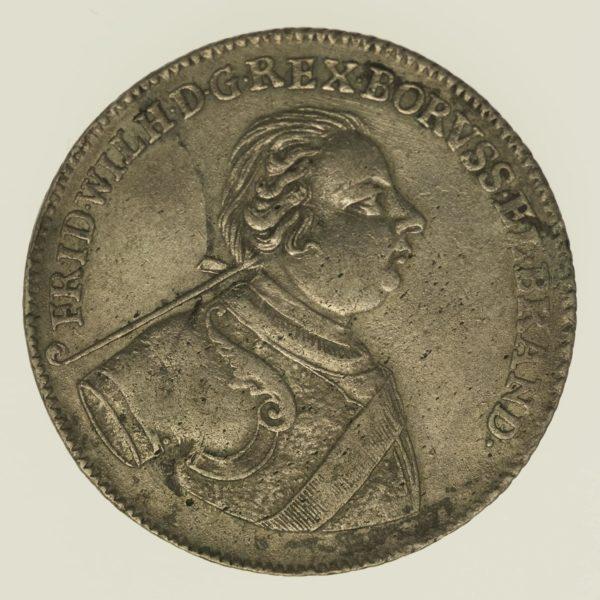 altdeutschland-deutsche-silbermuenzen - Preussen Friedrich Wilhelm I. 2/3 Taler 1720 IGN