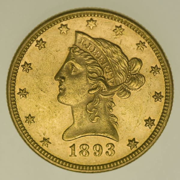usa - USA 10 Dollars 1893 Liberty / Kopf