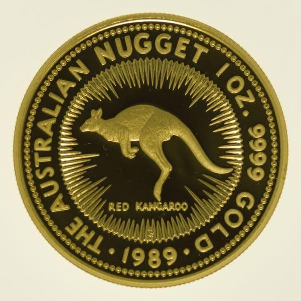 australien - Australien 100 Dollars 1989 Australian Nugget proof