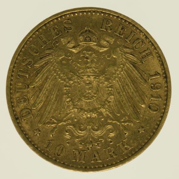 deutsches-kaiserreich-ab-1871 - Baden Friedrich II. 10 Mark 1910