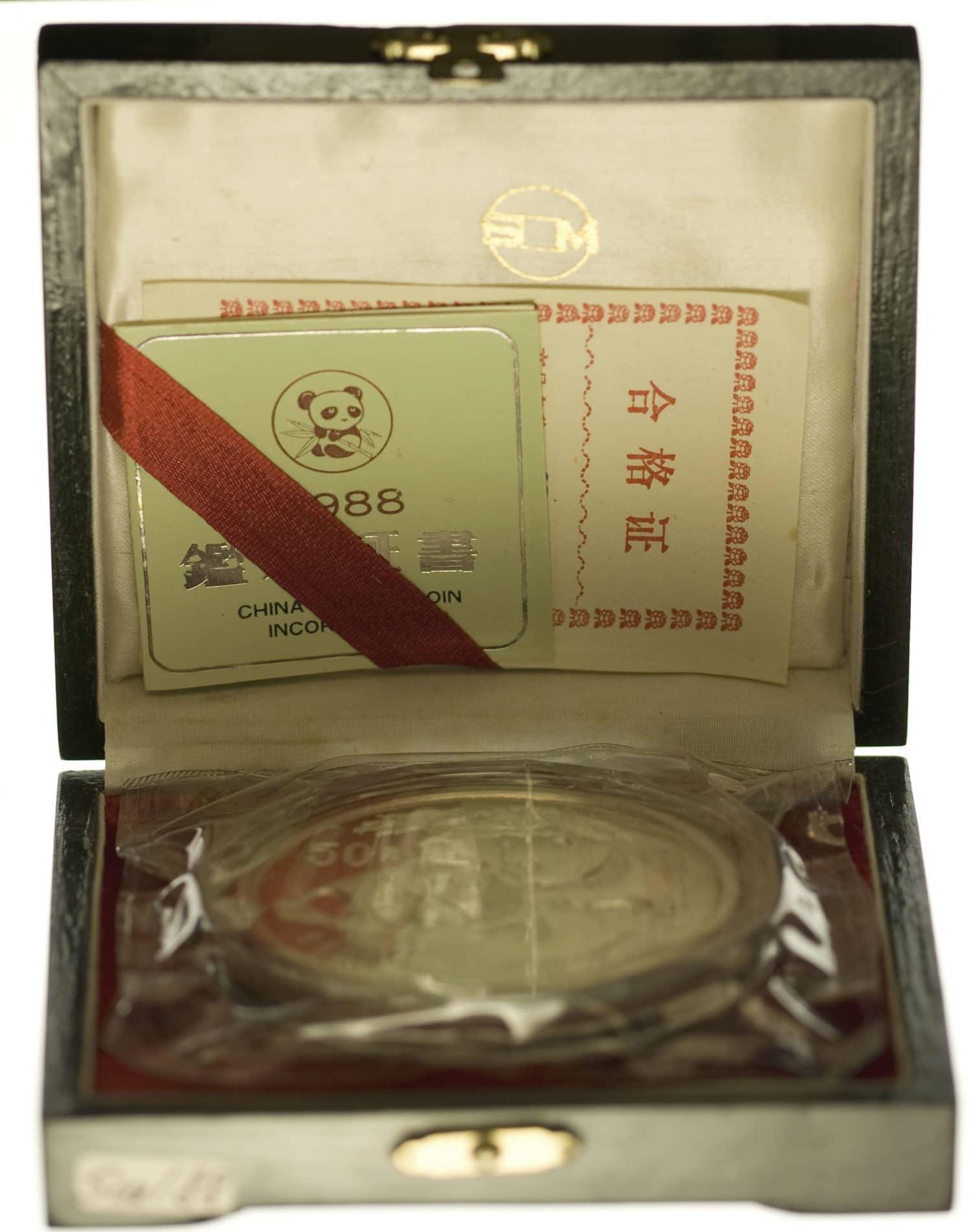 china-silbermuenzen-uebrige-welt - China Panda 5 Unzen 1988