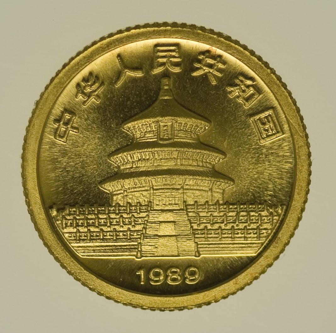 china - China Panda 1/20 Unze 1989